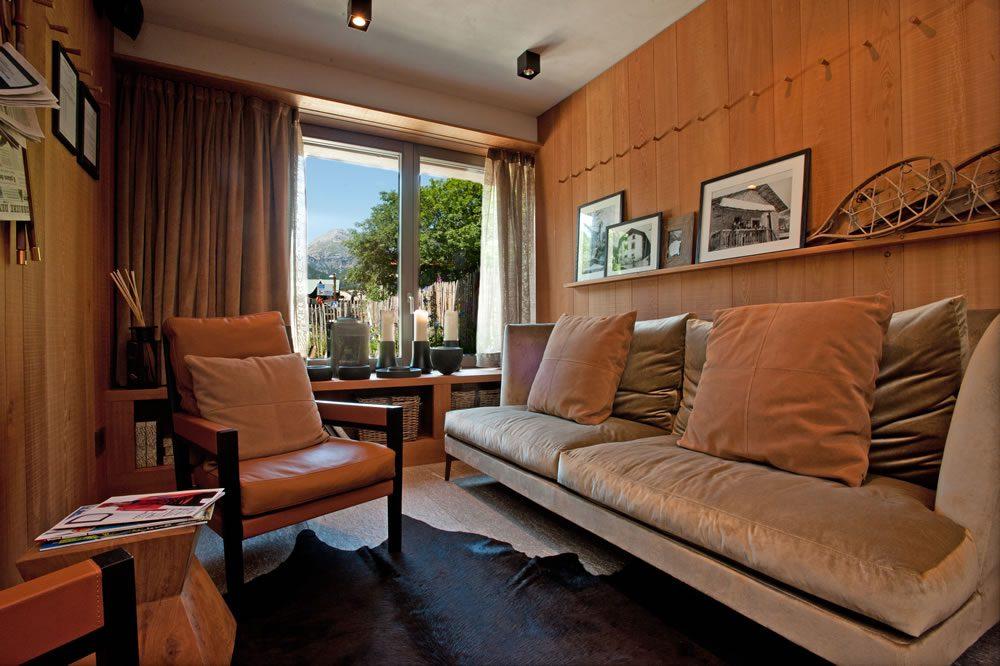 Hotel Eden interno: rivestimenti in marmo, serpentino della Valmalenco