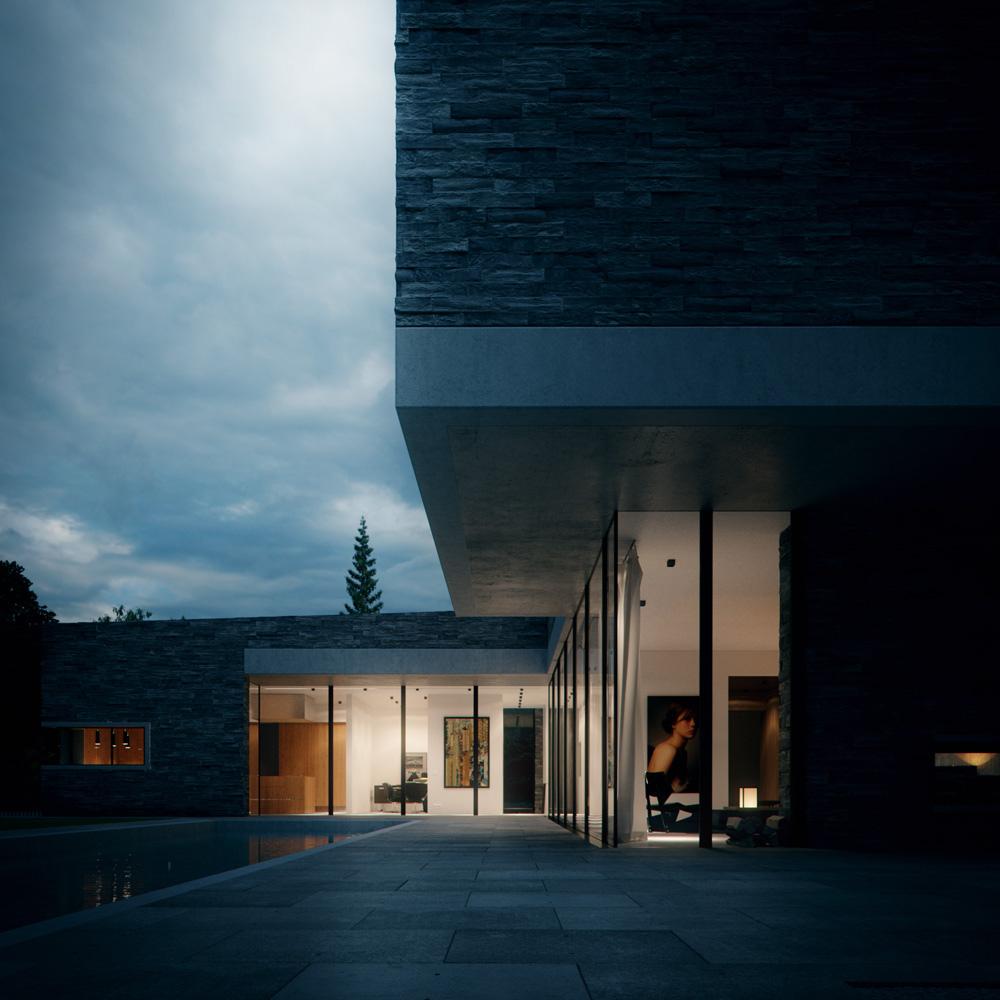 HouseM a Grunwald -in Germania - esterno realizzato in marmo