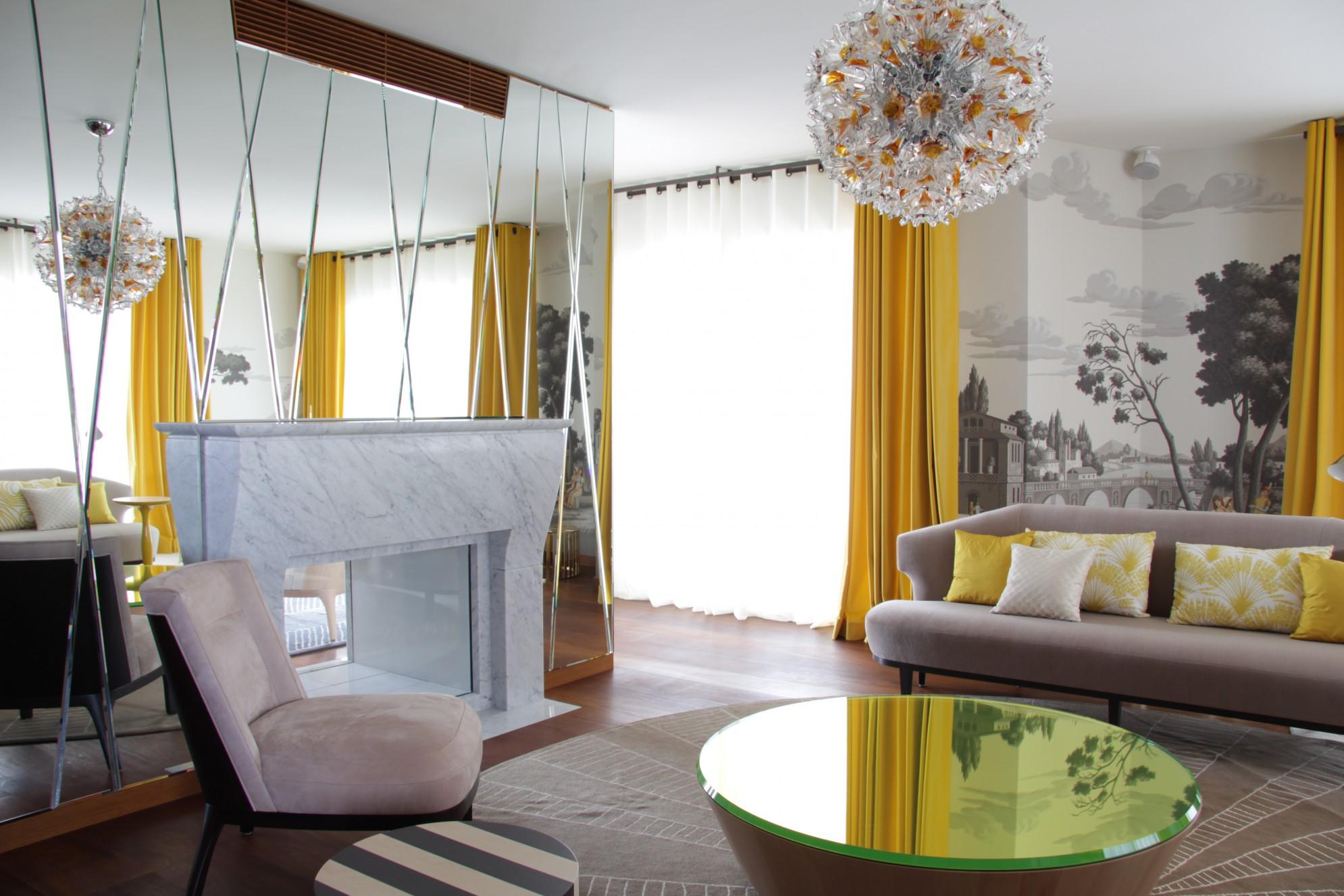 Casa privata con realizzazioni in soggiorno in marmo della Valmalenco