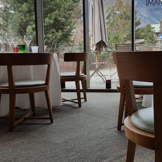 Hotel Eden, pavimentazione in marmo e granito della Valmalenco