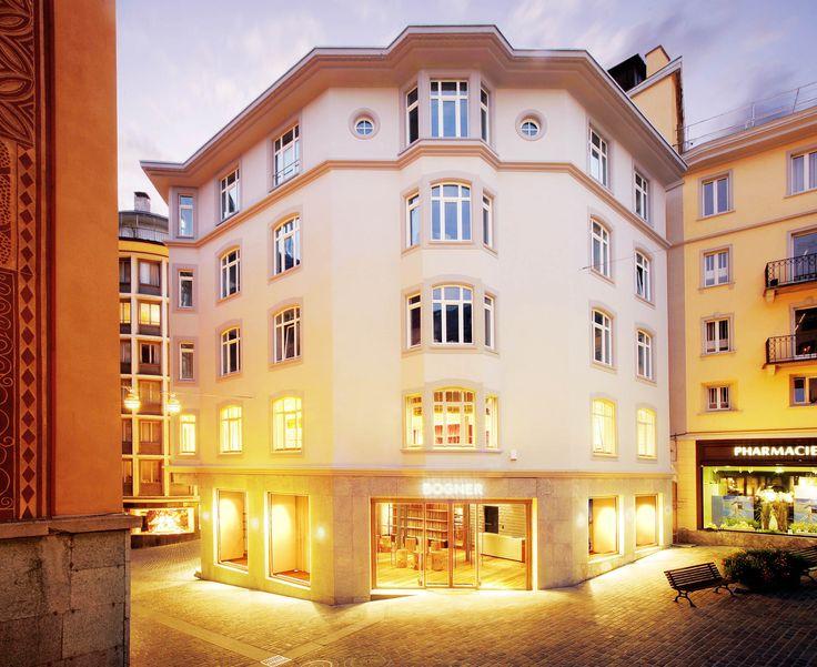 Edificio in marmo che include il Negozio Bogner - Saint Moritz